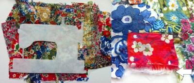 Liberty Fabric Scrap Art After Modge Podge