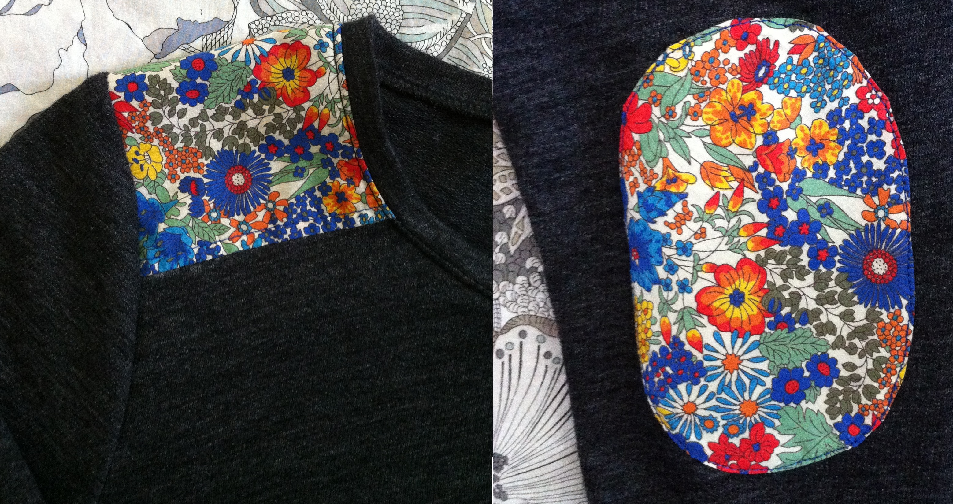 Diy Liberty Shoulder And Elbow Patch Tee Mad For Fabric