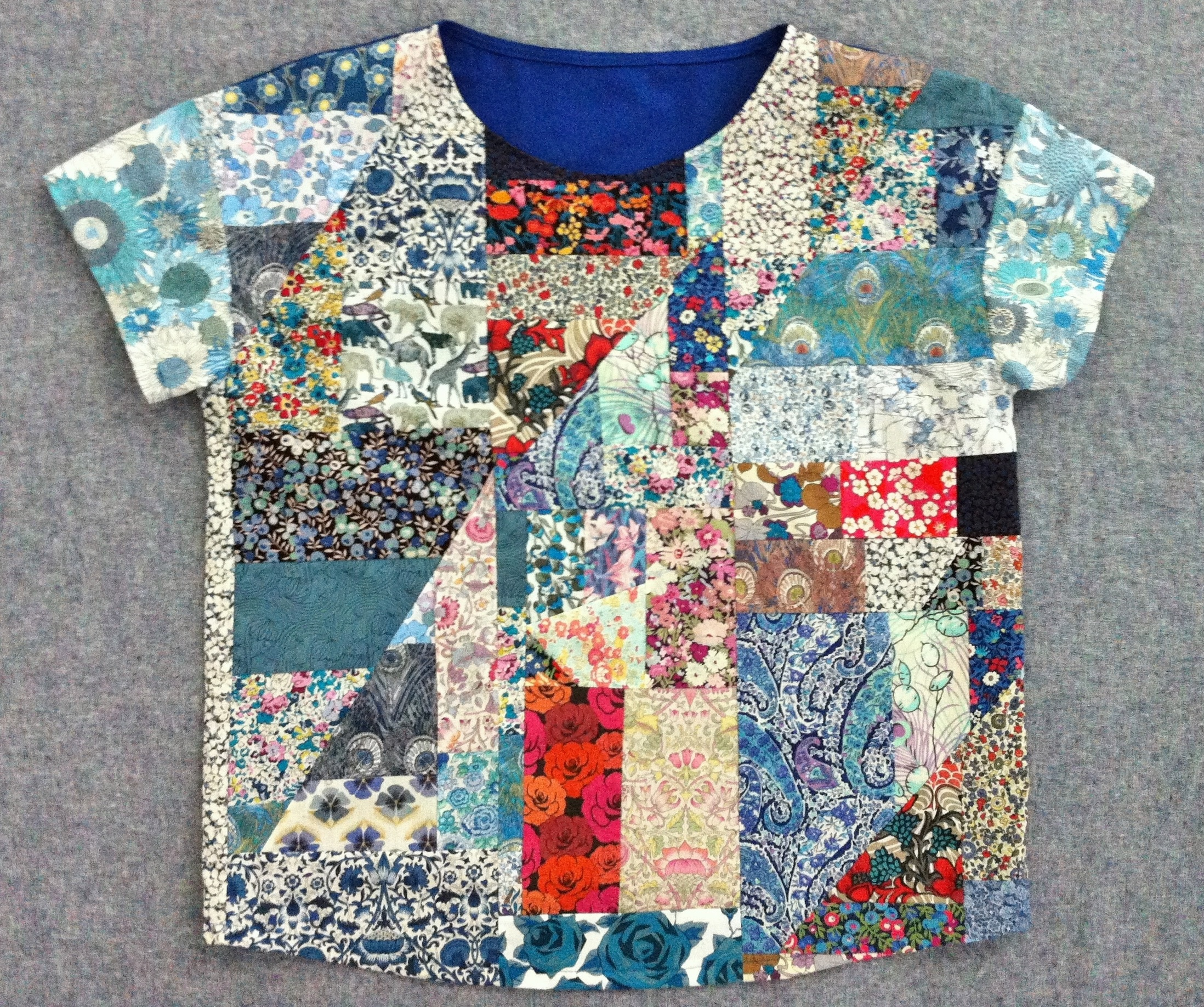 Diy Liberty London Patchwork Top