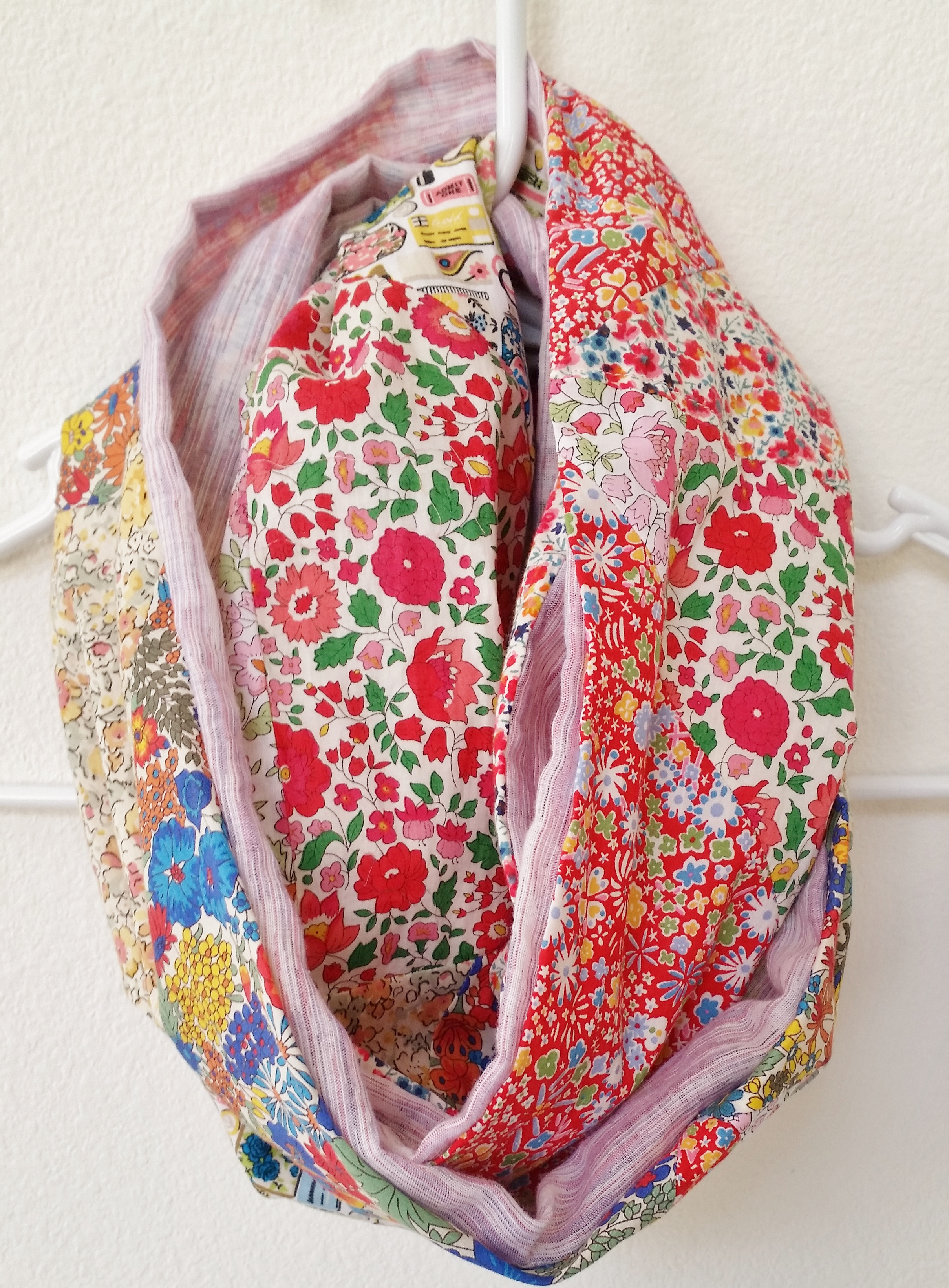 diy liberty patchwork infinity scarf mad for fabric