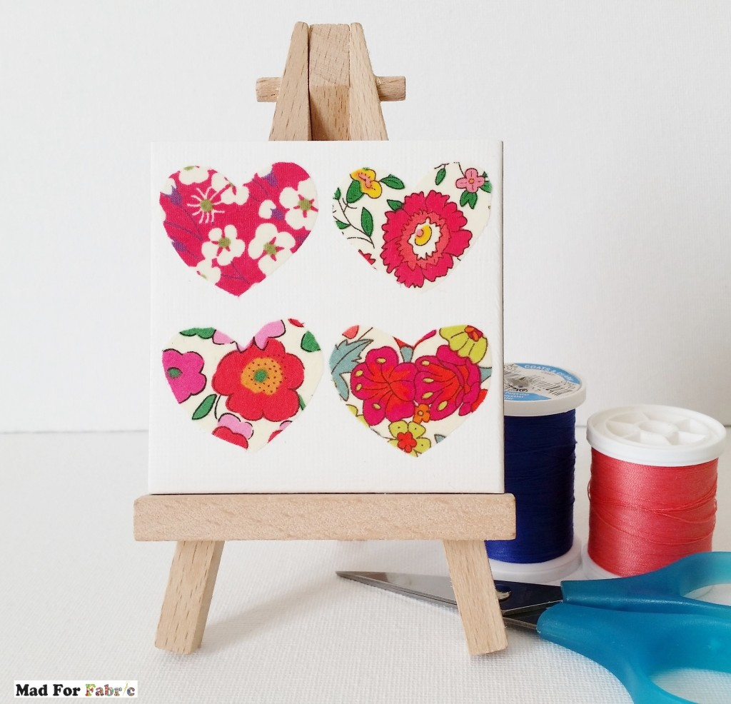Mad For Fabric - Fabric Scrap Mini Canvas Art 1