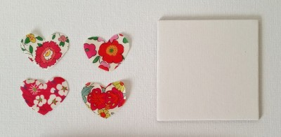Mad For Fabric - Mini Hearts From Liberty Fabric