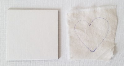Mad For Fabric - Muslin For Fabric Scrap Heart