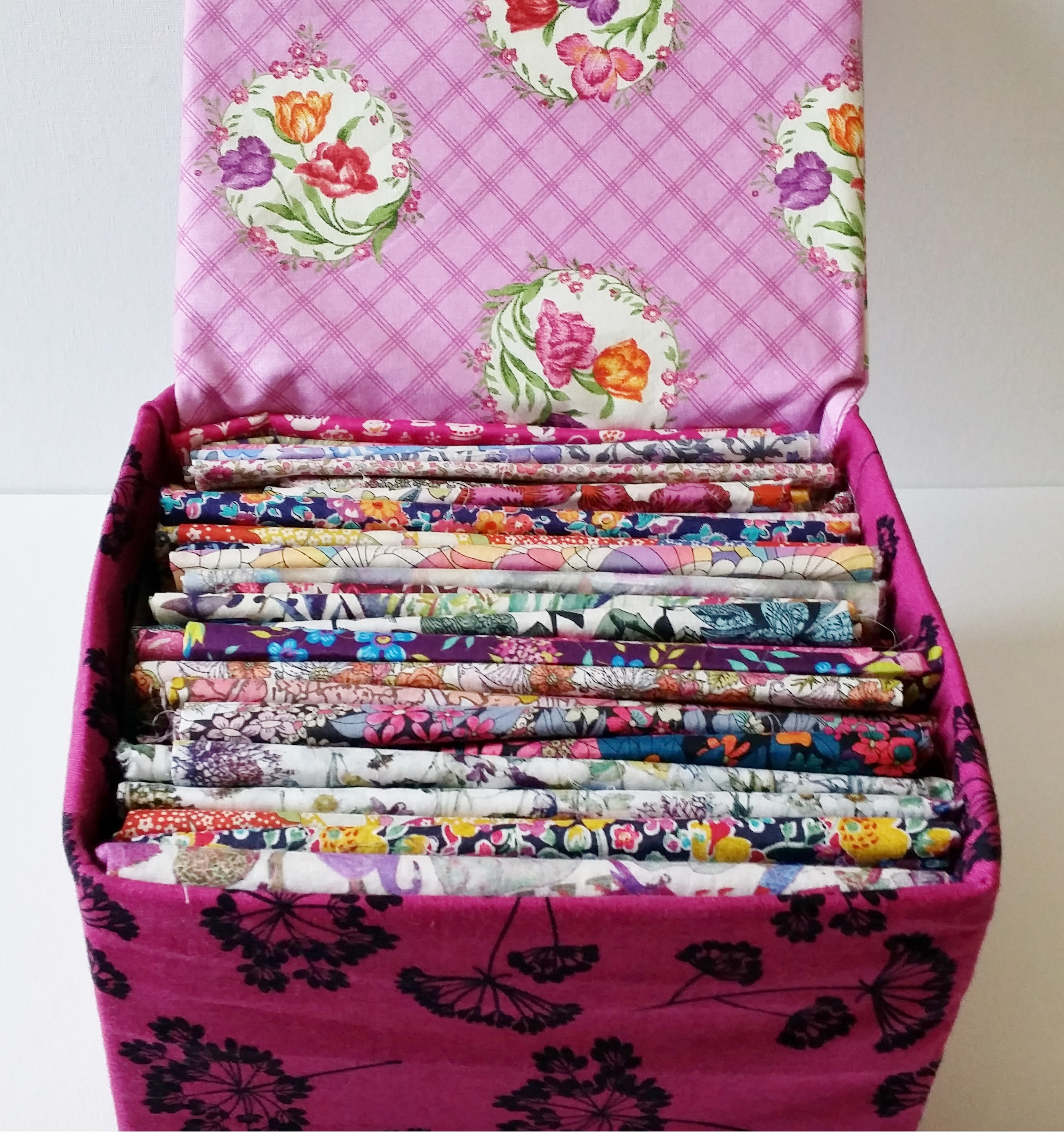 Diy fabric box with lid for Craft boxes with lids